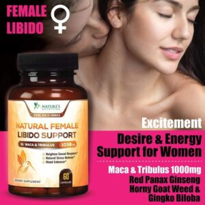 Natural Female Libido Support Pills W Maca & Tribulus 1000mg